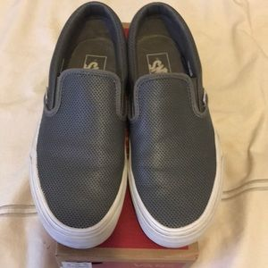 Vans Classic Slip-On Pearl Grey Leather (Unisex)